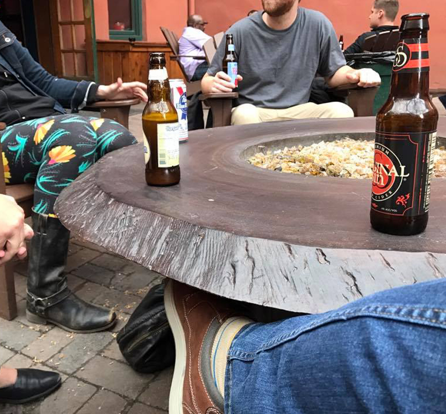 Friday drinks on the patio at the Tavern